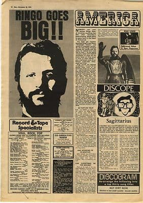 Ringo Starr GARY GLITTER Interview Music Press article/cutting/clipping 1974