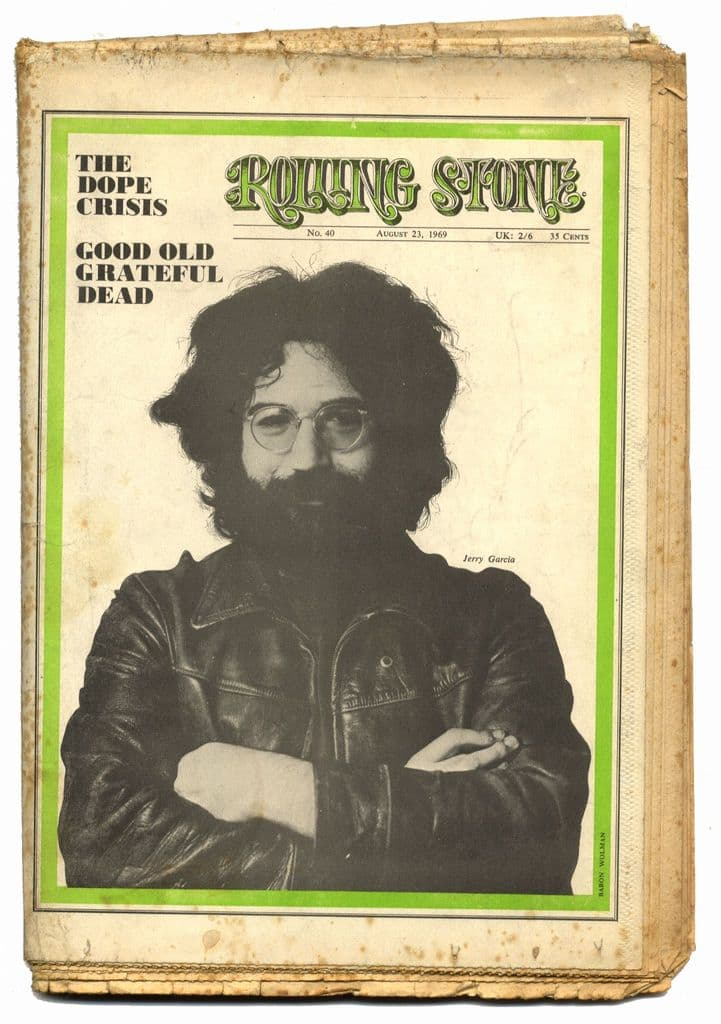 Rolling Stone Magazine No 40 23 August 1969 Grateful Dead 10 page feature! Jim Dine Family