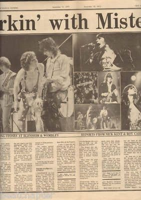 Rolling Stones 3 Page original Vintage Music Press Article cutting/clipping September 15th 1973