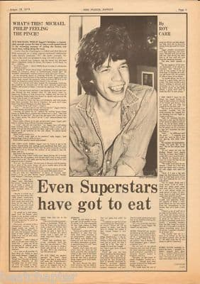 Rolling Stones Even superstars.. original Vintage Music Press Article cutting/clipping 1973