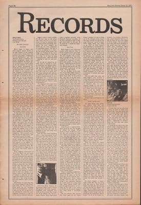 Rolling Stones Sticky Fingers LP review original Vintage Music Press Article cutting/clipping 1971