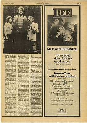 SLAPP HAPPY 1 page Interview Vintage Music Press article/cutting/clipping 1974