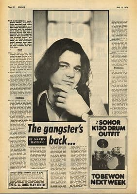 STEVE MILLER Interview Vintage Music Press Article/cutting/clipping 1973