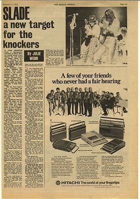 Slade A new target Interview Vintage Music Press Article/cutting/clipping 1972