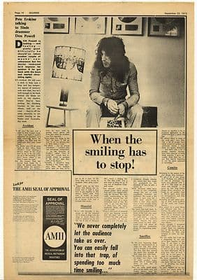 Slade Don Powell Interview Vintage Music Press Article/cutting/clipping 1973