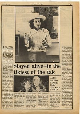 Slade Slayed Alive Report from New York Vintage Music Press Article/cutting/clipping 1973