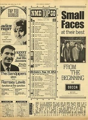 Small Faces LP Original Vintage music Press cutting/clipping 1967