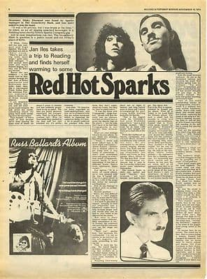 Sparks Vintage Interview Music Press article/cutting/clipping 1974