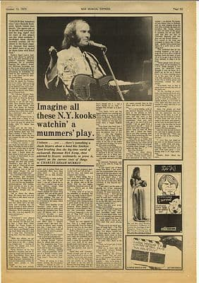 Steeleye Span Rick Kemp Vintage Music Press Article/cutting/clipping 1974
