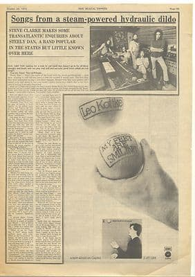 Steely Dan Steam powered hydraulic... Vintage Music Press article/cutting/clipping 1973