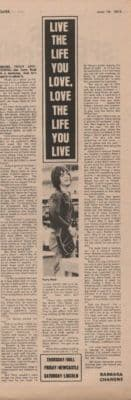 TERRY REID Love the life you live... Page original Vintage Music Press article 1973