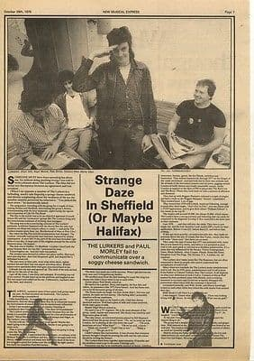THE LURKERS Strange Daze-Interview 1.5p article press cutting/clipping 1978