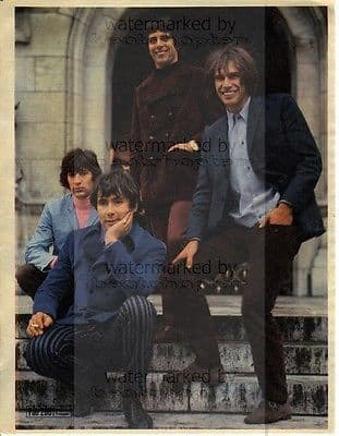 The Troggs size approx 10X13 inch pinup poster size press cutting/clipping 1967