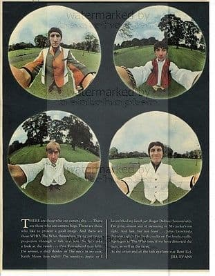 The Who size approx 10X13 inch pinup poster size press cutting/clipping 1966