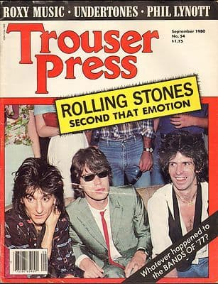 Trouser Press Magazine September 1980 Roxy Music Residents Kevin Ayers Phil Lynott Stones Beat