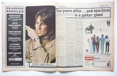 Ten Years After Alvin Lee Interview Vintage Music Press Article/cutting/clipping 1970