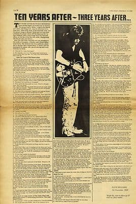 Ten Years After Alvin Lee Leo Lyons Interview Press article/cutting/clipping69