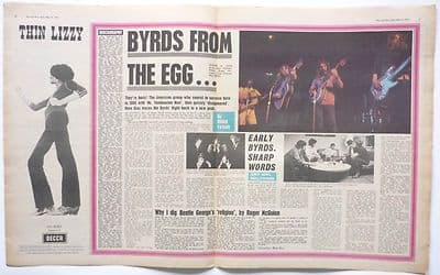 The Byrds From the Egg Thin Lizzy Advert Music Press Article/cutting/clipping 1971