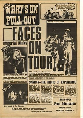 The Faces KinksGig Guide cover Vintage Music Press Article/cutting/clipping 1972