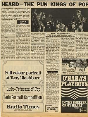 The Herd Interview Vintage Music Press article/cutting/clipping 1968