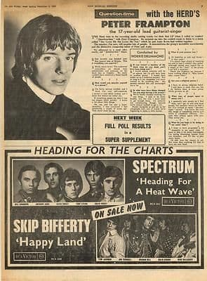 The Herd PETER FRAMPTON Vintage Music Press article/cutting/clipping 1967