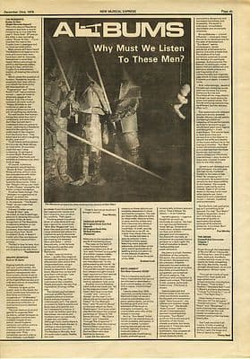 The Residents Buster & Glen LP review Music Press article/cutting/clipping 1978