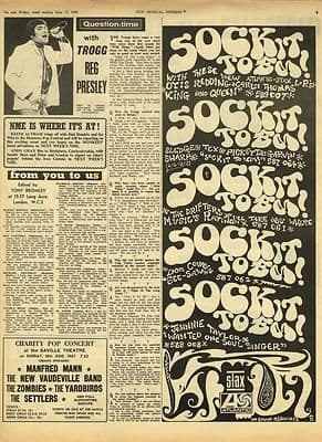 The Troggs REG PRESLEY & STAX Advert Vintage Music Press article/cutting/clipping 1967