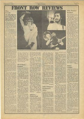 The Who Live Lyceum Review Vintage Music Press article/cutting/clipping 1973