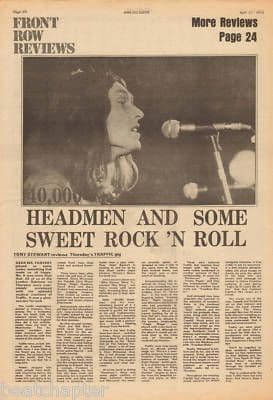 Traffic Live Gig Review original Vintage Music Press Article cutting/clipping 1973