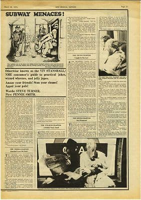 Vivian Viv Stanshall 1½ page Interview Music Press article/cutting/clipping 1975
