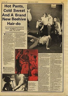 B-52s 2 page Interview Press article/cutting/clipping 1979