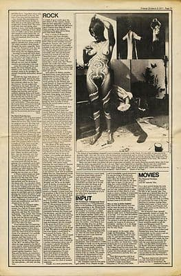 BARNEY BUBBLES Body Painting +article re Alex Sanders wife cutting/clipping 1971