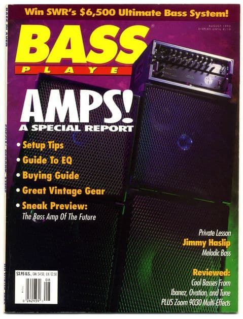 Bass Player Magazine August 1992 Jimmy Haslip Amps special report