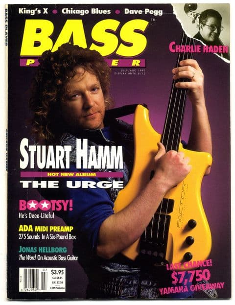 Bass Player Magazine July August 1991 Dave Pegg Charlie Haden Stuart Hamm
