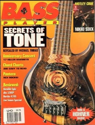 Bass Player Magazine May June 1994 Motley Crue Pantera Michael Tobias