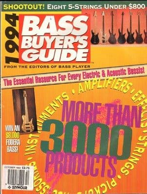 Bass Player Magazine October 1993 The 1994 Buyers Guide Amps, Effects etc