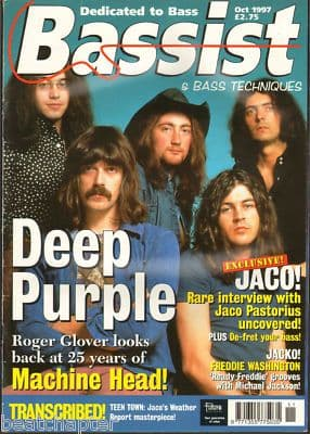 Bassist Magazine October 1997 Deep Purple Roger Glover Jaco pastotius Freddie Washington