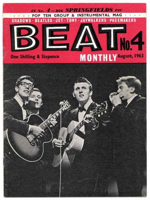 Beat Monthly Magazine No 4 August 1963 The Beatles Hollies Shadows Springfields Cherokees