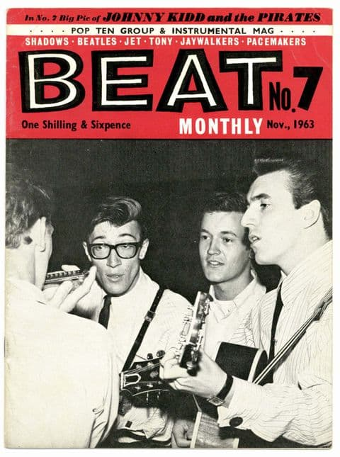 Beat Monthly Magazine No 7 November 1963 Hollies Jaywalkers Johnny Kidd The Beatles Shadows