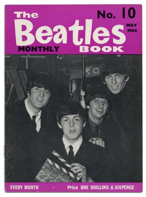 Beatles Monthly Book Magazine Issue No 10 May 1964 in Very Good+ condition