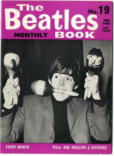 Beatles Monthly Book Magazine Issue No 19 February 1965 Original in Excellent condition