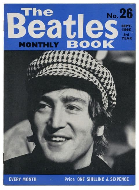 Beatles Monthly Book Magazine Issue No 26 September 1965 in Excellent+ condition