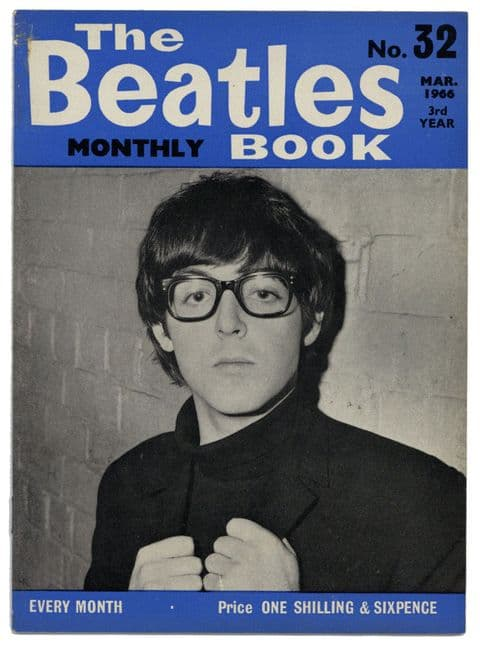 Beatles Monthly Book Magazine Issue No 32 March 1966 in Very good+ condition