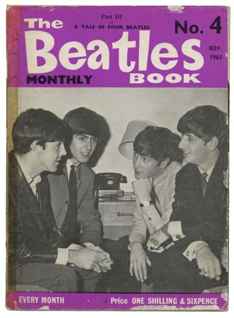Beatles Monthly Book Magazine Issue No 4 November 1963 reprint in legible condition
