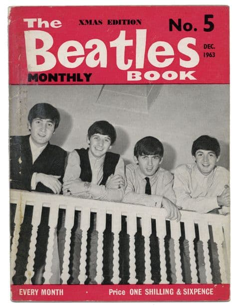 Beatles Monthly Book Magazine Issue No 5 December 1963 in VG condition