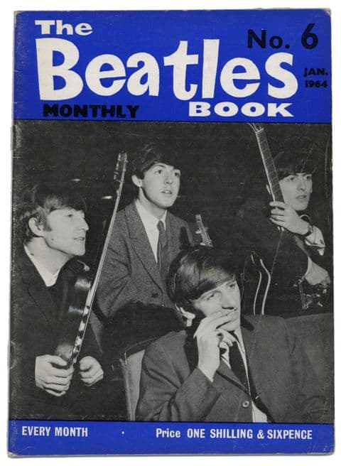 Beatles Monthly Book Magazine Issue No 6 January 1964 in Good condition