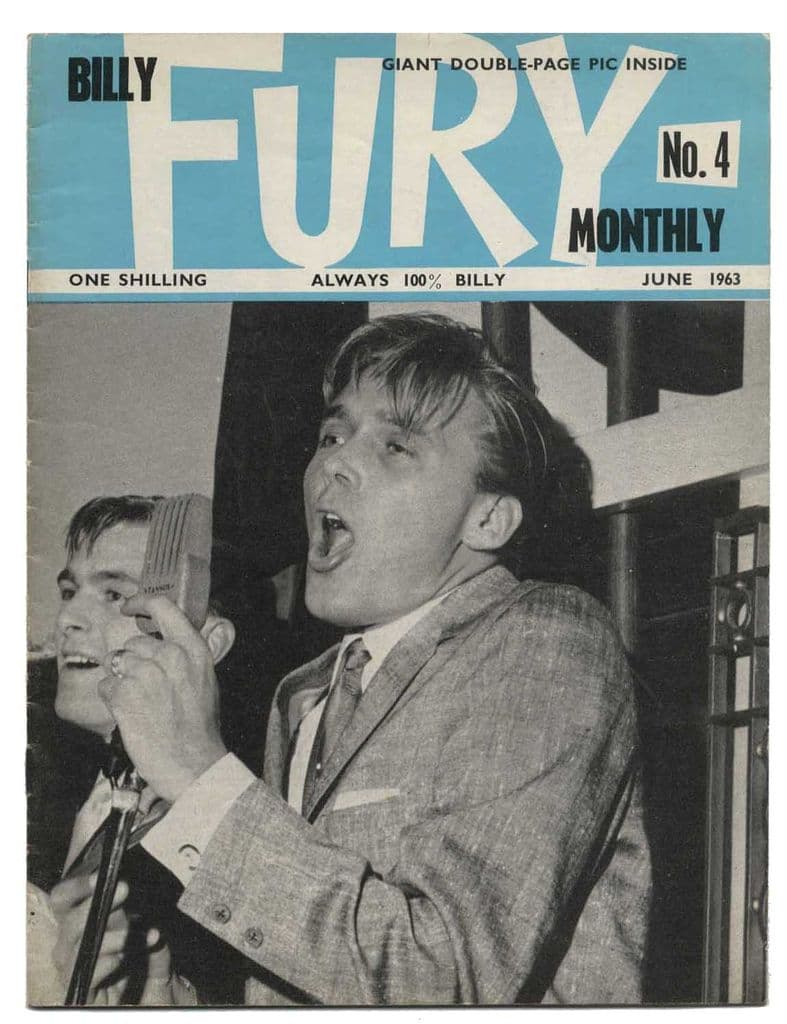 Billy Fury Monthly Magazine issue No 4 June 1963 Early UK Music mag