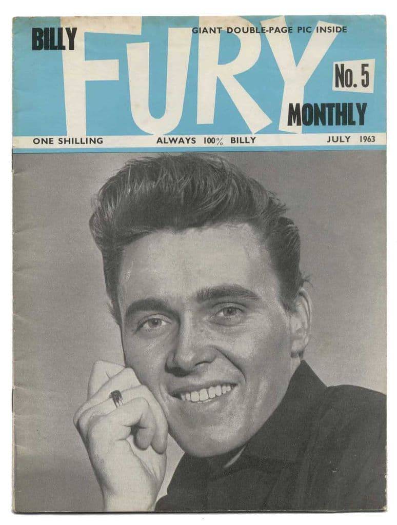 Billy Fury Monthly Magazine issue No 5 July 1963 Early UK Music mag