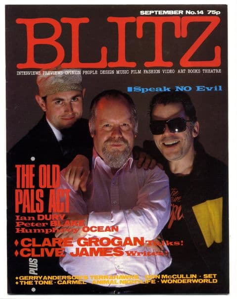 Blitz Magazine No 14 September 1984 Ian Dury Peter Blake Don McCullin interview Gerry Anderson