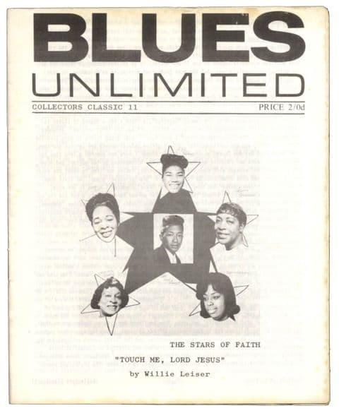 Blues Unlimited Magazine Collectors classics No 11 February 1966 Touch Me Lord Jesus/Gospel Music